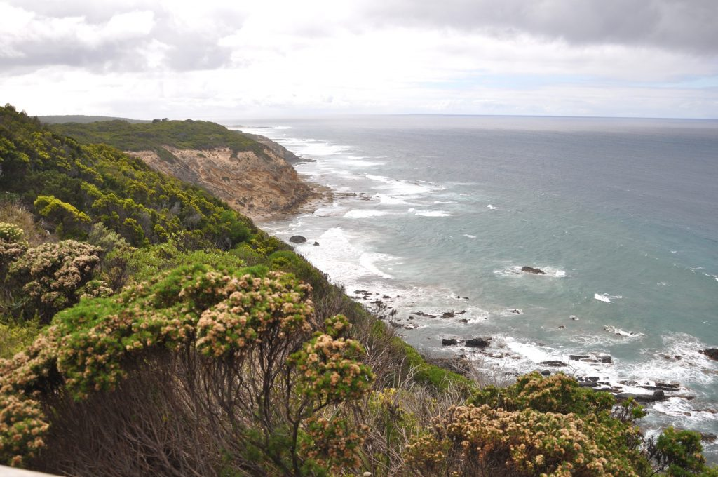 View on coast on Great Ocean Road