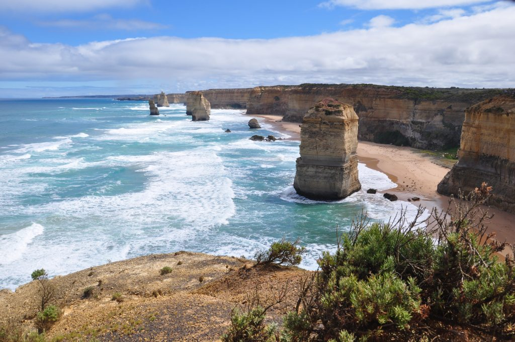 12 Apostles from lookout on Great Ocean Road
